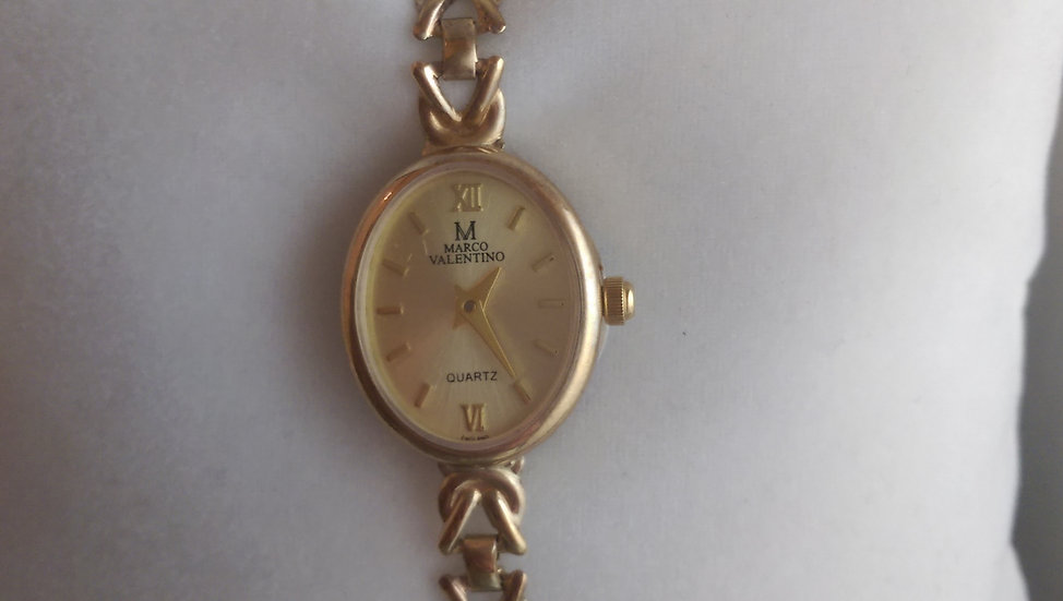 New Marco Valentino 9ct Yellow Gold Watch