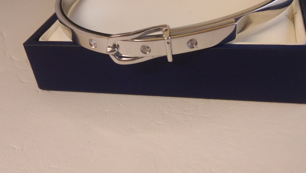 925 Sterling Silver Buckle Bangle