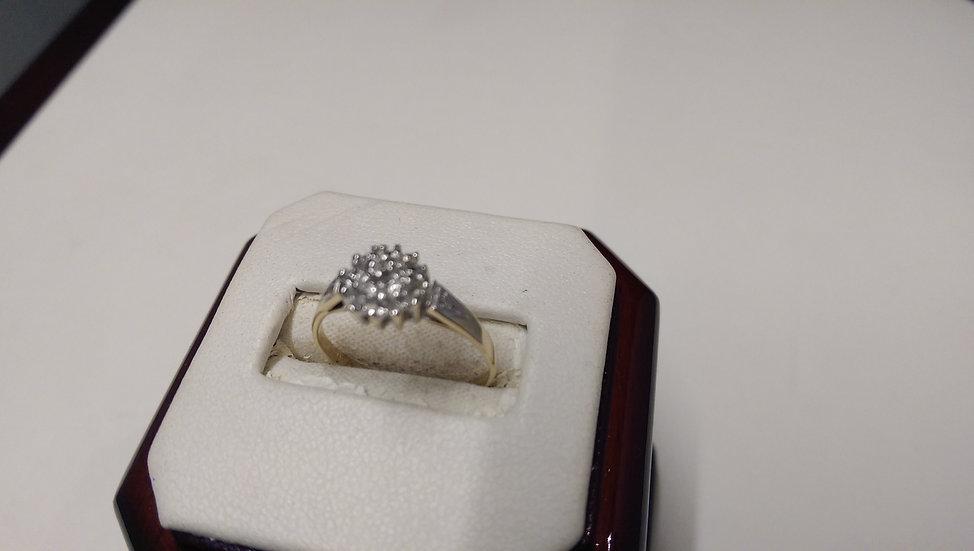 Second Hand 9ct Gold 0.15ct Diamond Ring