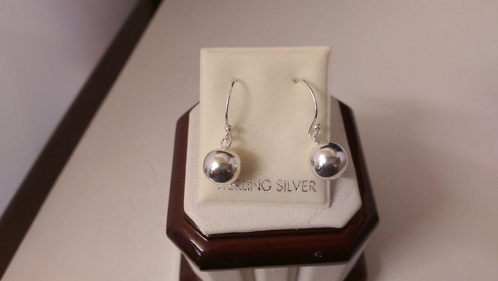 925 Sterling Silver Ball Dropper Earrings