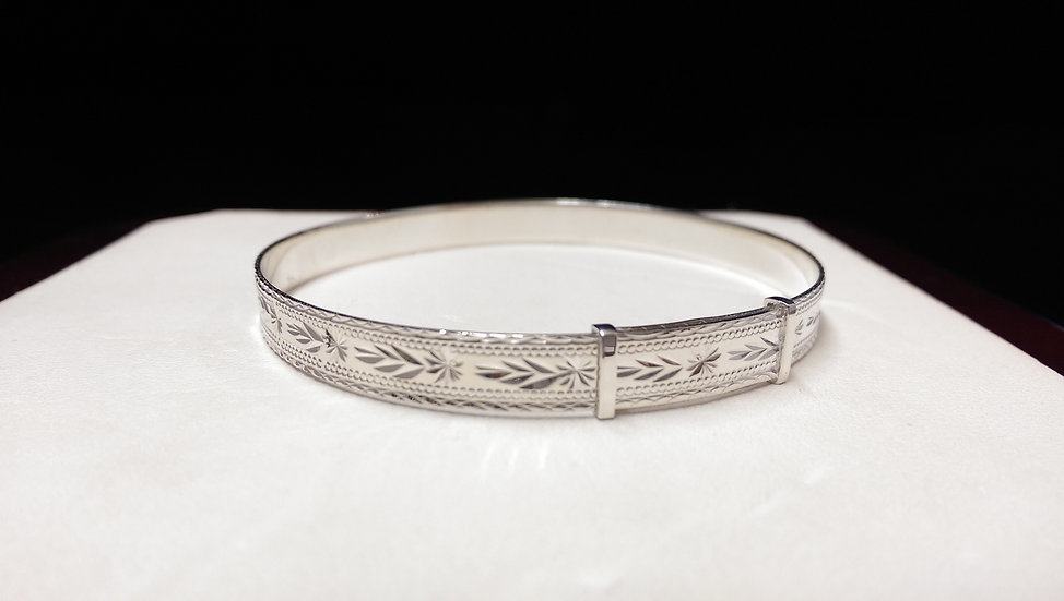 925 Sterling Silver Expandable Bangle