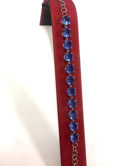 Sterling Silver Siberian Tanzanite Bracelet (SB104)