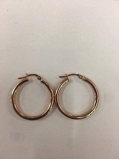 9ct Rose gold small hoop earrings