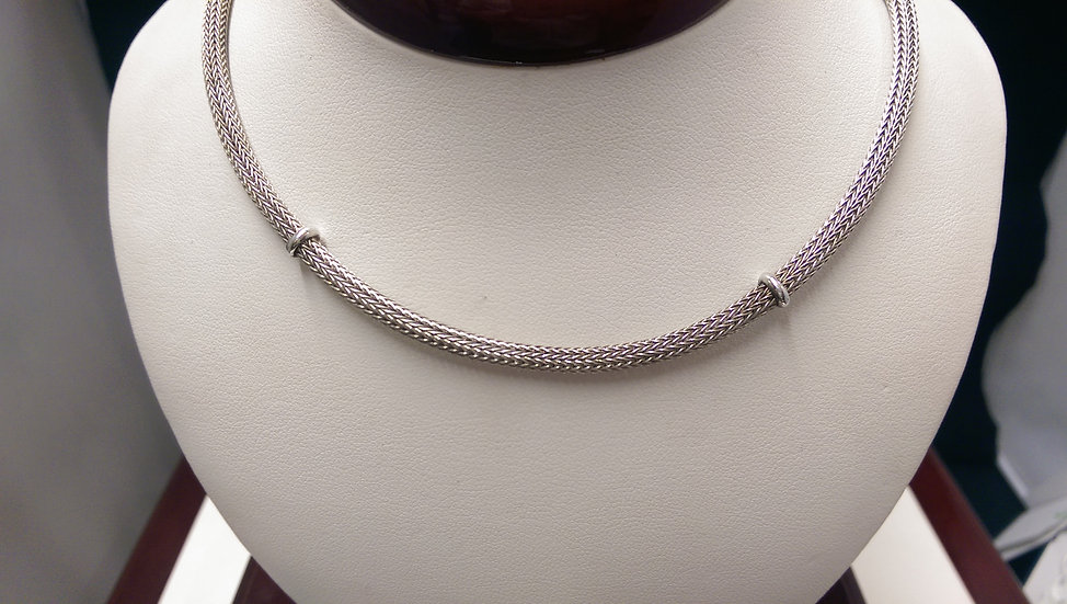 925 Sterling Silver Fancy Necklace 16 inches