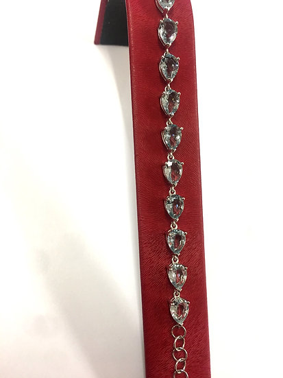 Sterling Silver Siberian Aqua Bracelet (SB102)