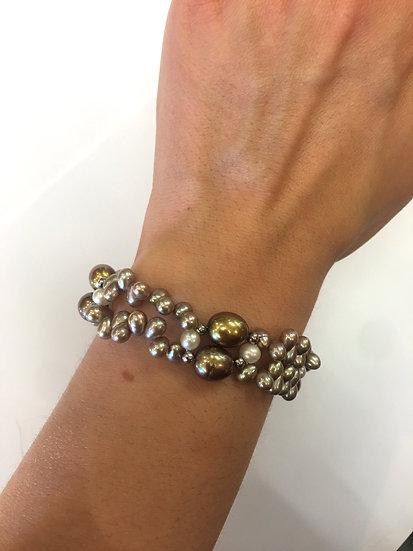 Silver Pearl Bracelet (SB128)