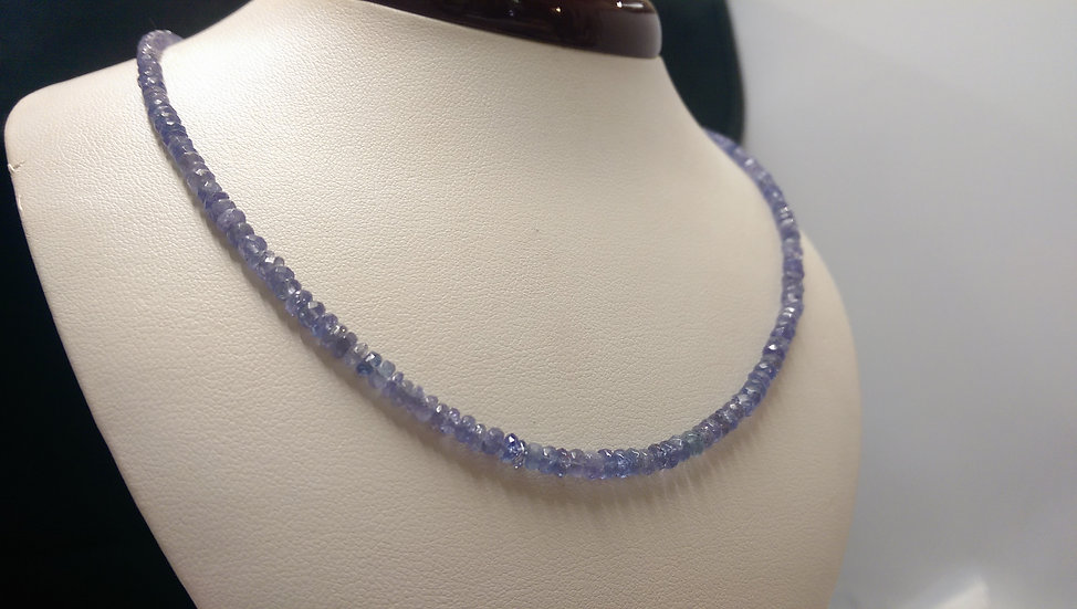 925 Sterling Silver Bead Necklace 16 inches