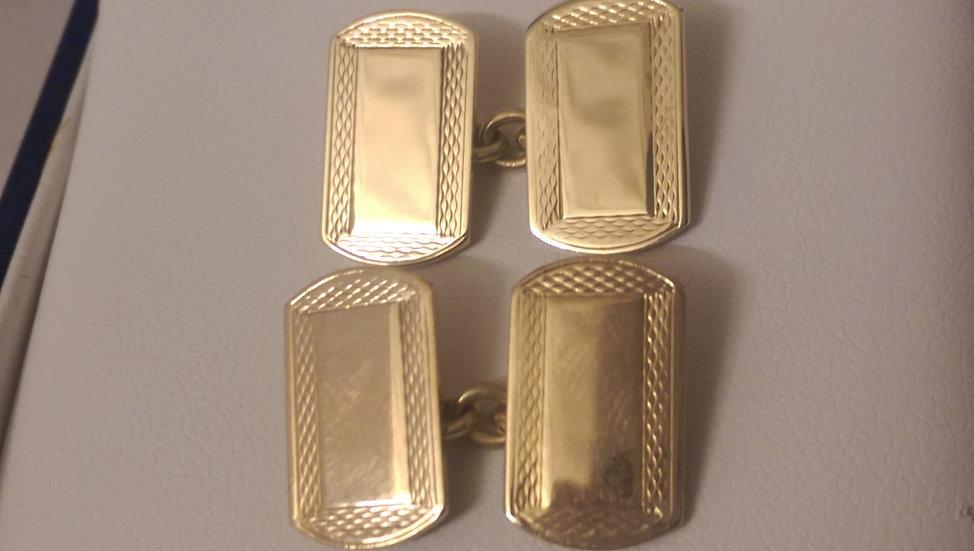 Second Hand 9ct Gold Cufflinks