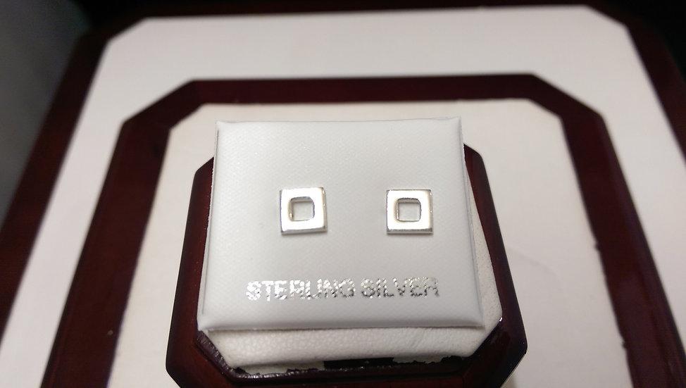 925 Sterling Silver Plain Earrings