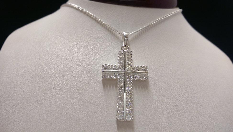 925 Sterling Silver Cross & Chain