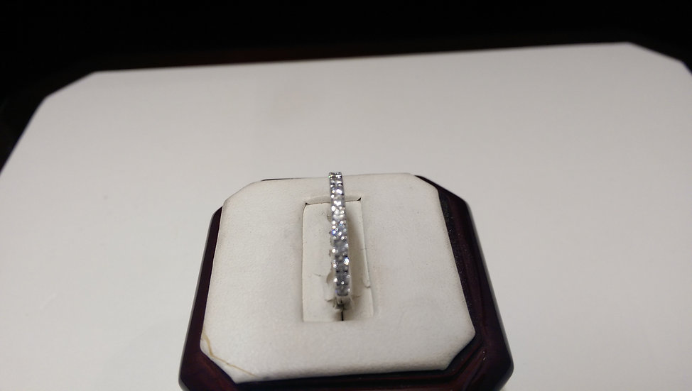 925 Sterling Silver ET White CZ Ring