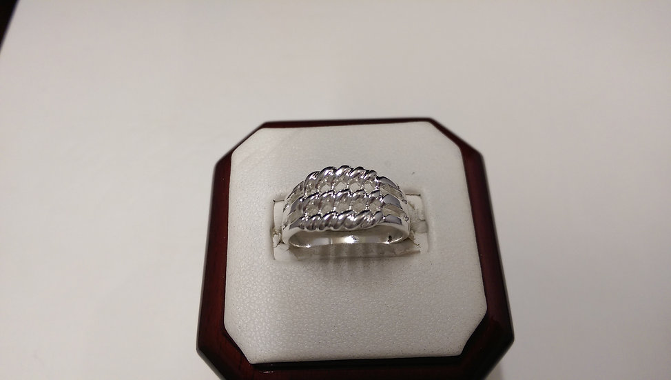 925 Sterling Silver Keeper Ring