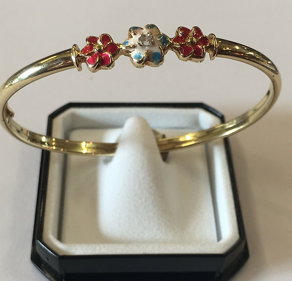 Childrens/Baby Flower Diamond Bangle