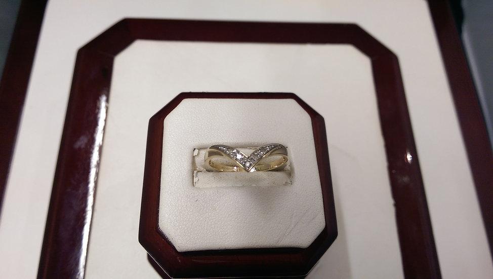 Second Hand 9ct Gold 0.05ct Diamond Ring