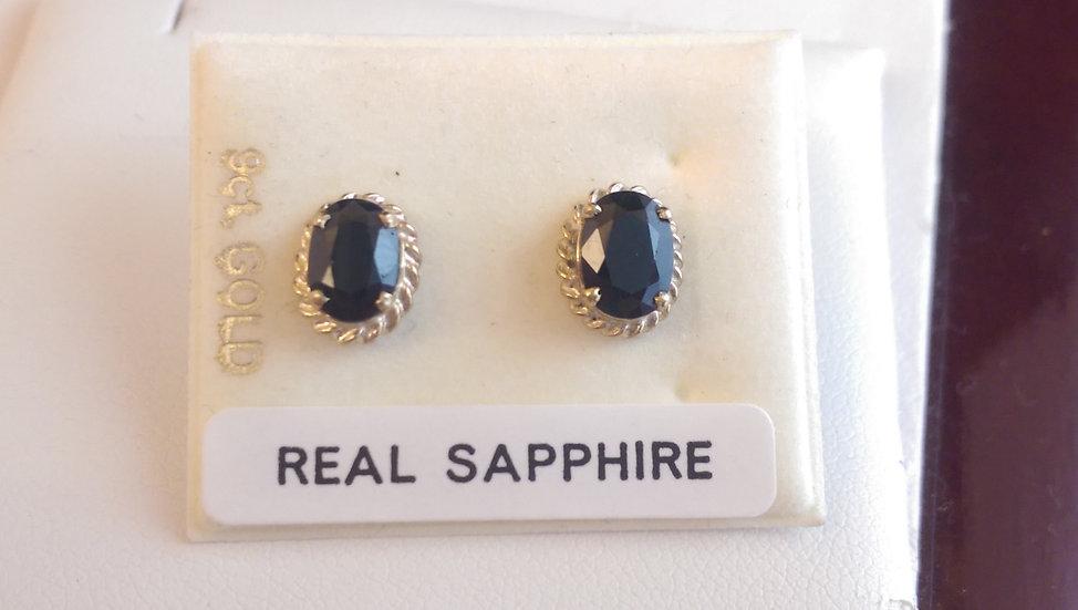 9ct Gold Sapphire Earrings