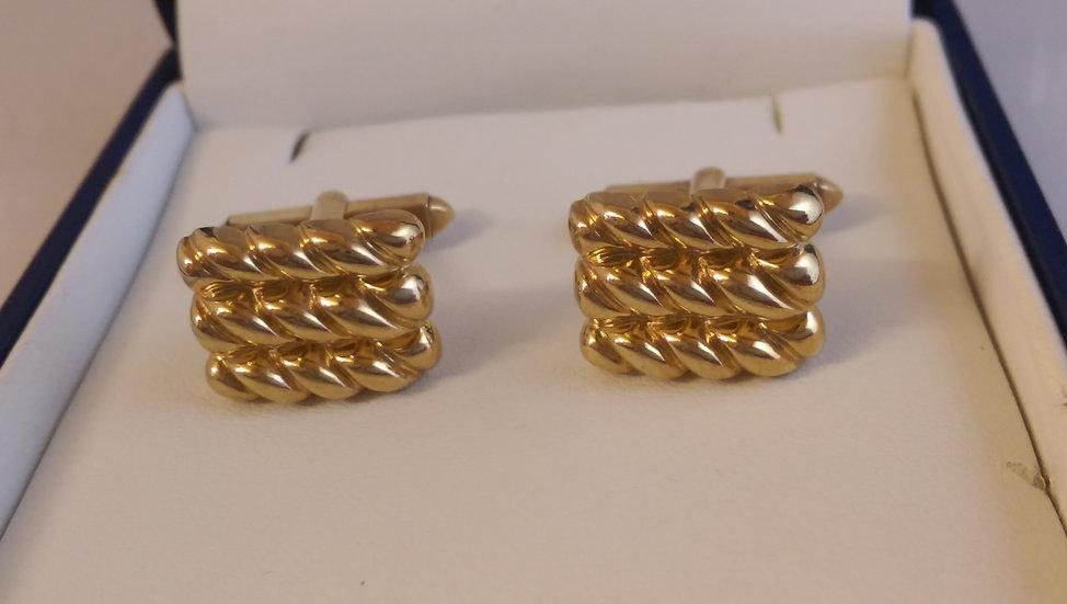 Second Hand 9ct Gold Keeper Cufflinks