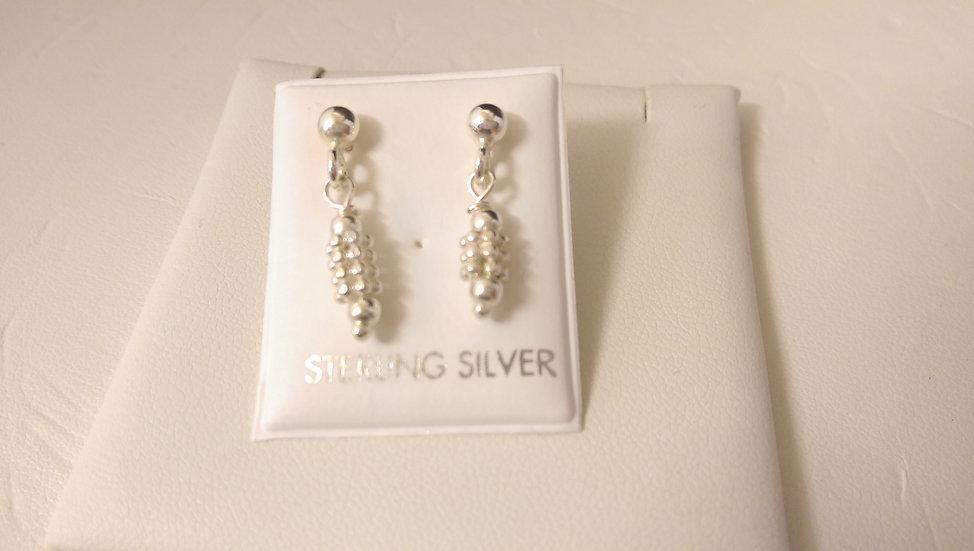 925 Sterling Silver Fancy Dropper Earrings