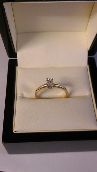 18ct Yellow Gold 0.20pt Single Stone Diamond Ring