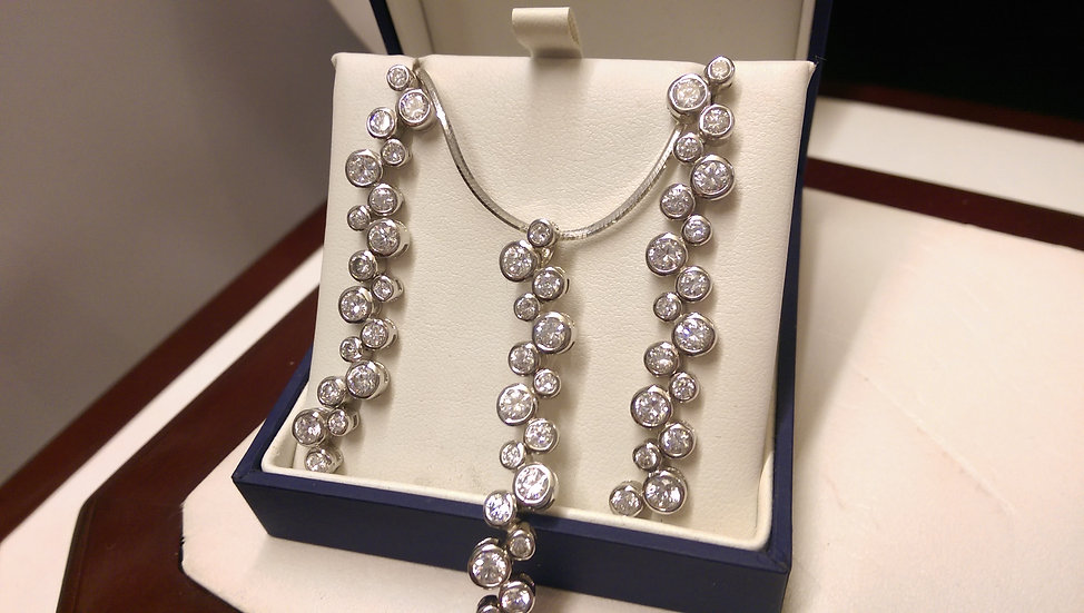 925 Sterling Silver White CZ Set