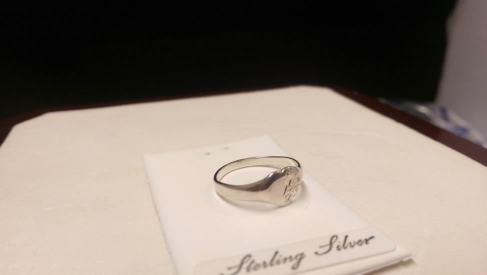 925 Sterling Silver Fancy Signet Ring