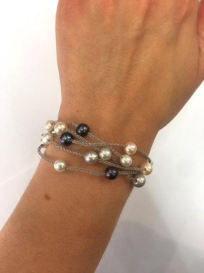 Silver Pearl Bracelet (SB131)