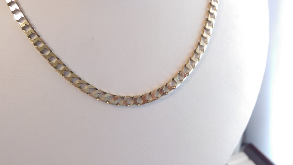 9ct Gold Square Curb Chain 20 Inches