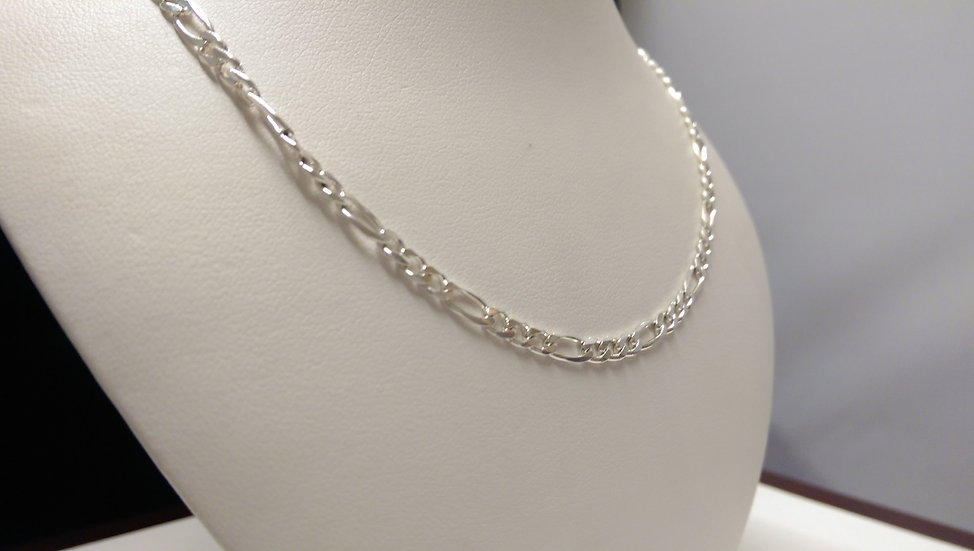 925 Sterling Silver Figaro Chain 18 inches