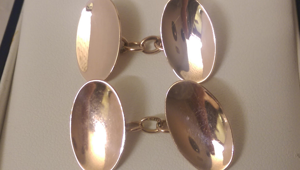 Second Hand 9ct Rose Gold Cufflinks