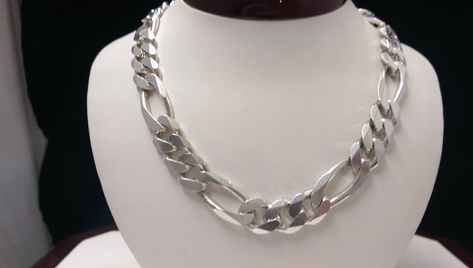 925 Sterling Silver Heavy Curb 22 iches