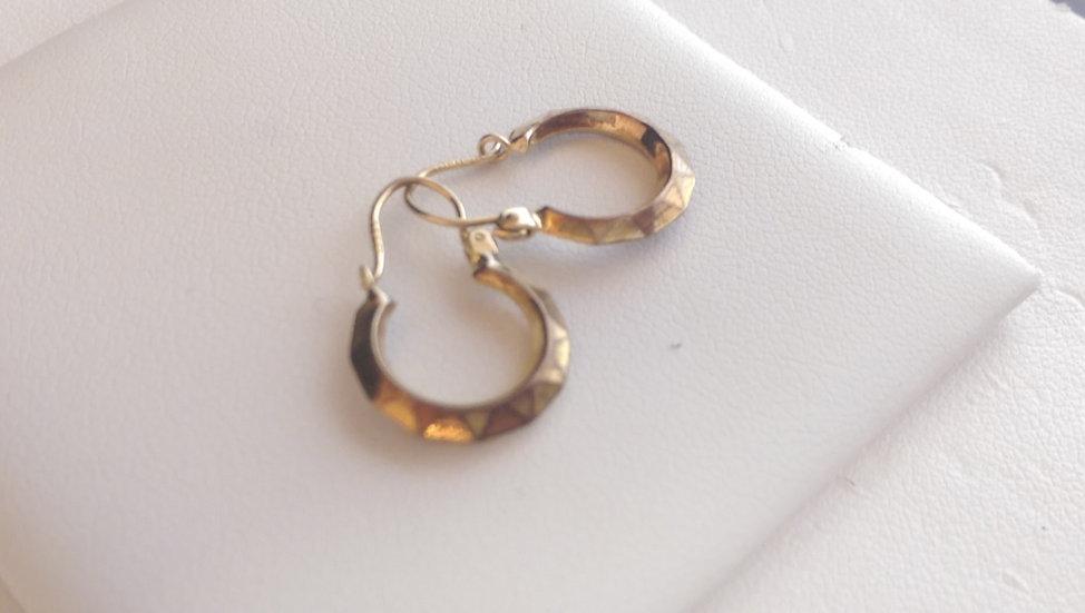 9ct Gold Fancy Hoops Earrings