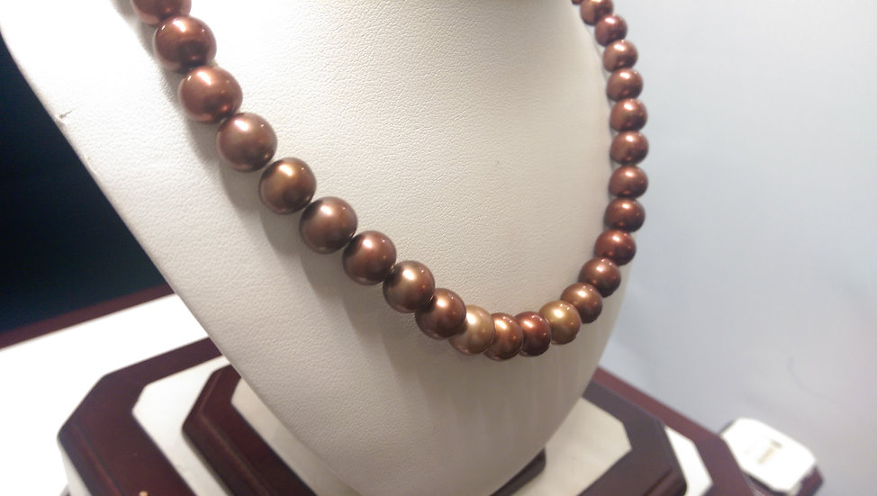 925 Sterling Silver F / W Pearl Necklace 18 inches