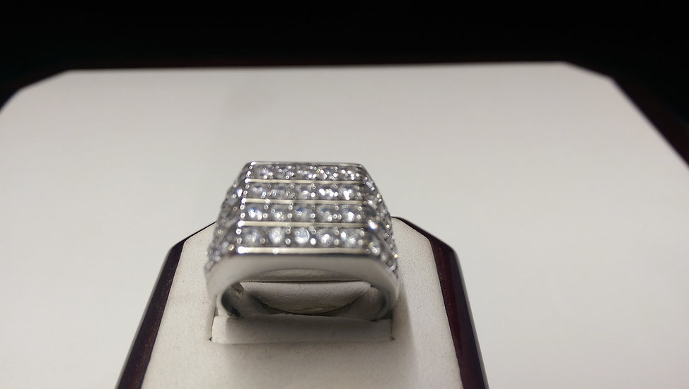 925 Sterling Silver White CZ Ring