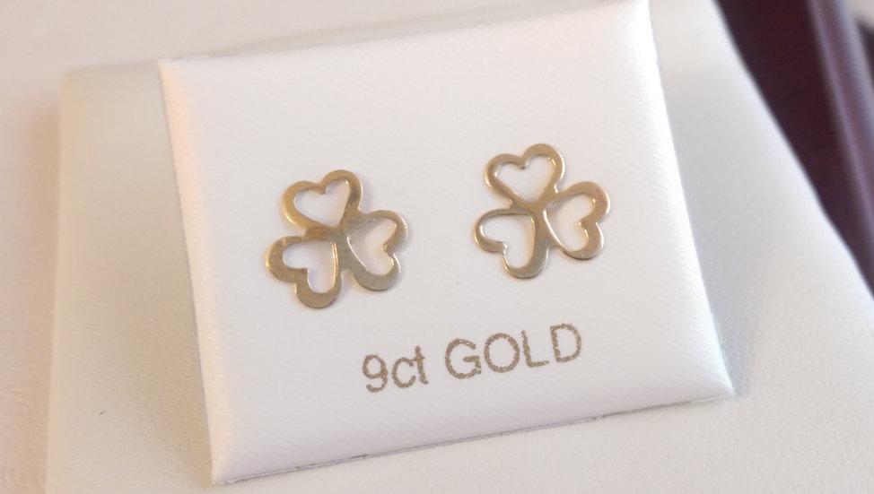 9ct Heart Gold Earrings