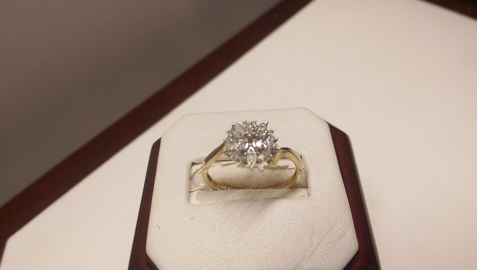 Second Hand 9ct Gold 0.15ct Diamond Ring