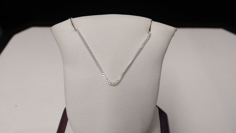 925 Sterling Silver Curb 18  inches