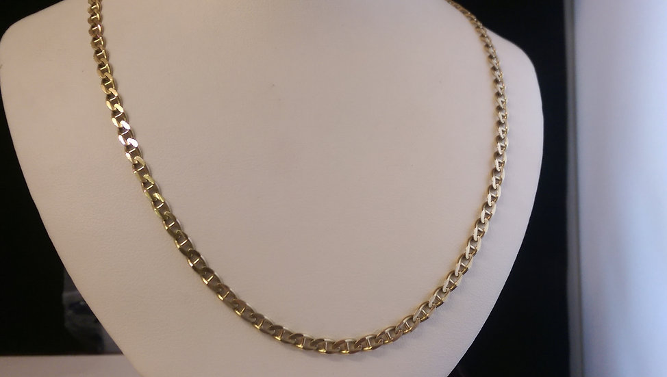 9ct Gold Anchor Chain 18 Inches