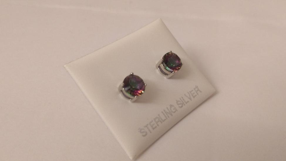 925 Sterling Silver Mystic TopazEarrings