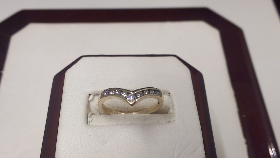 Second Hand 9ct Gold 0.25ct Diamond Ring
