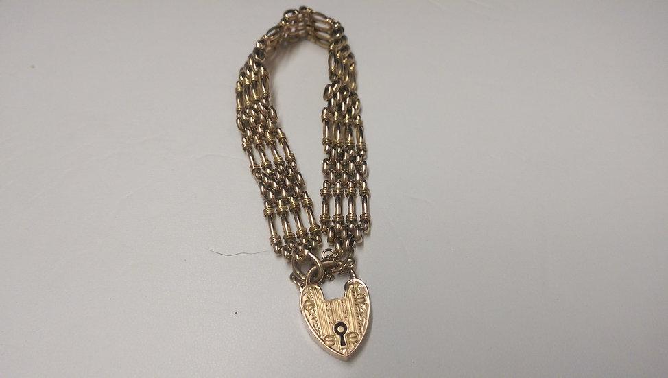 Second Hand 9ct Gold Gate Bracelet