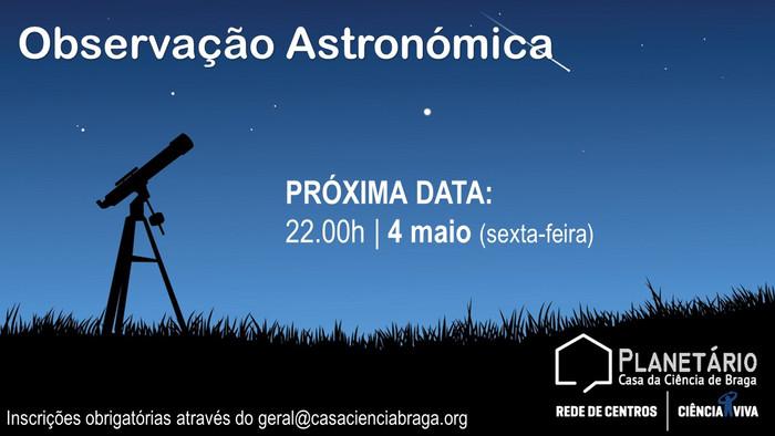 Observação Astronómica 4 maio 2018
