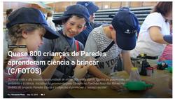 Quase 800 crianças de Paredes aprenderam ciência a brincar