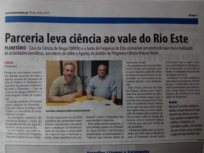 Parceria científica nasce no Vale do Rio Este