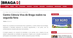 Centro Ciência Viva de Braga reabre na segunda-feira