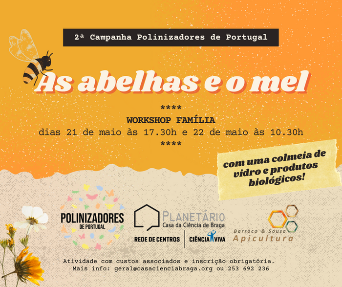 "Workshop família: ""As abelhas e o mel"""