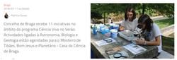 Ciência viva no Verão convida a descobrir a nascente do Rio Este