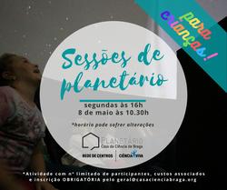 Sessões de planetário para crianças!