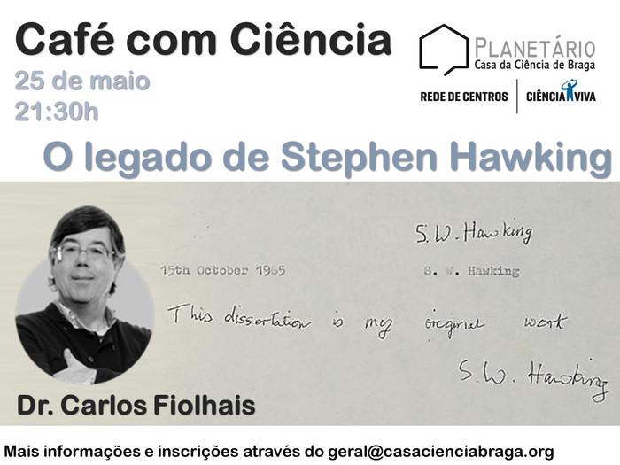 """Café com Ciência: """"O legado de Stephen Hawking"""""""