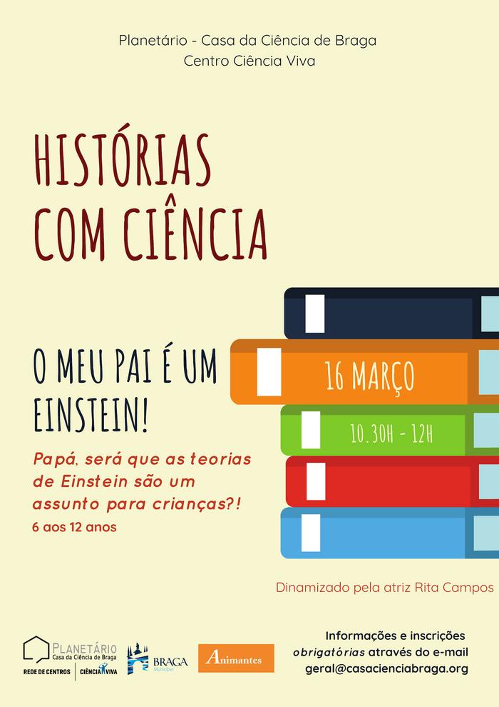 """Histórias com Ciência - """"O meu pai é um Einstein!"""""""