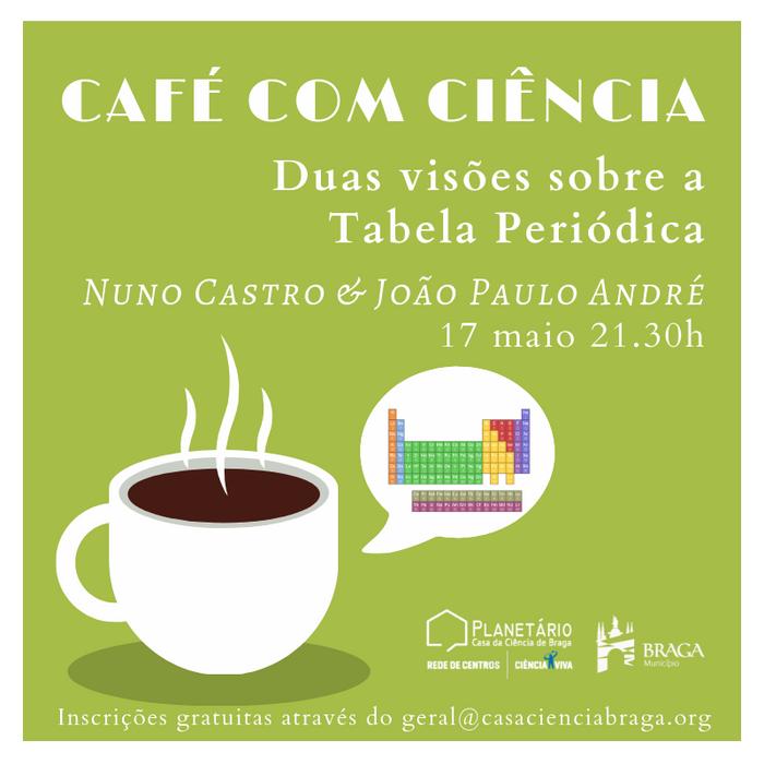 """Café com Ciência """"Duas visões sobre a Tabela Periódica"""""""