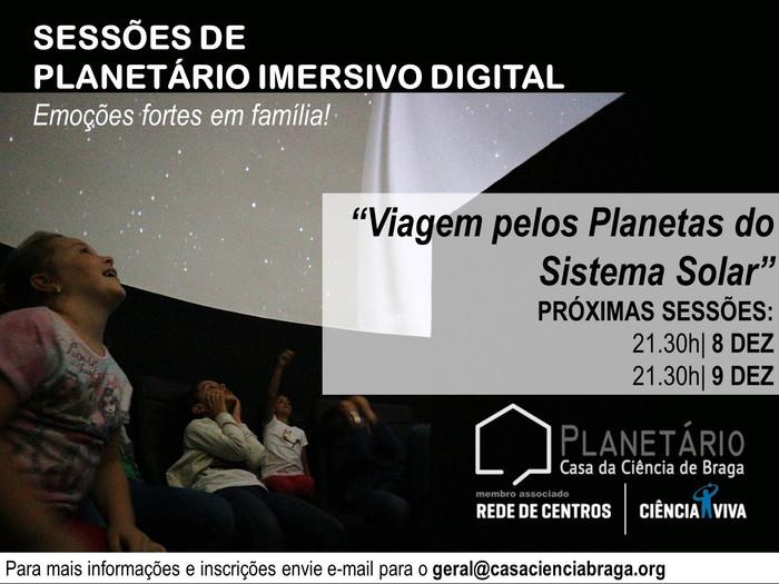 Sessões Planetário Imersivo 8 e 9 de dezembro de 2017